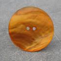 Bouton nacre orange 38 mm
