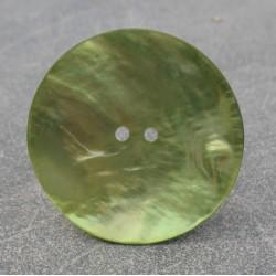 Bouton nacre vert anis 38mm