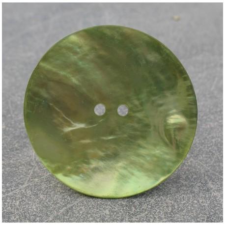 Bouton nacre vert anis 38 mm