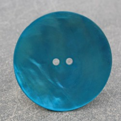 Bouton nacre turquoise 38 mm