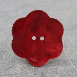 Bouton nacre fleur rouge 38mm