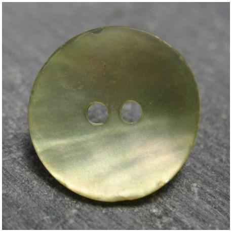 Bouton nacre g19 gomme vert 18 mm b68