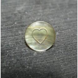 Pion nacre coeur 12 mm b72