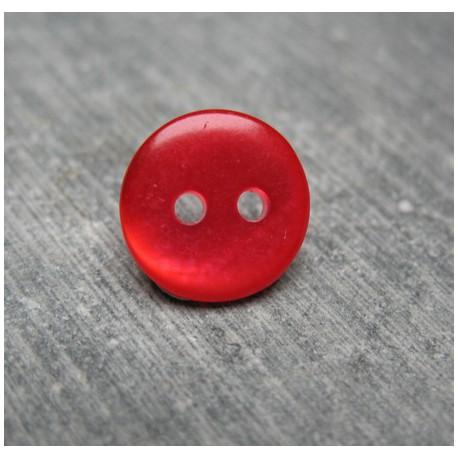 Bouton nacre rouge 11 mm b72