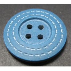 Bouton trait bleu 22 mm b39