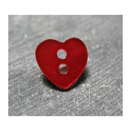 Nacre coeur rouge 11 mm