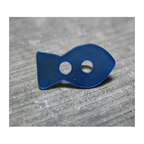 Nacre poisson bleu 15 mm b20c