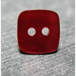 Nacre carré rouge 13 mm