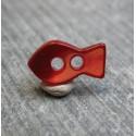 Bouton nacre poisson rouge 12 mm b20c