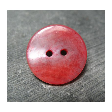 Bouton nacre rose 22mm