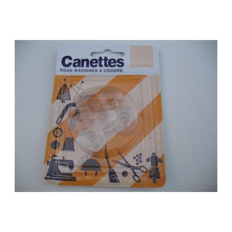 Canettes plastique pour machine à coudre