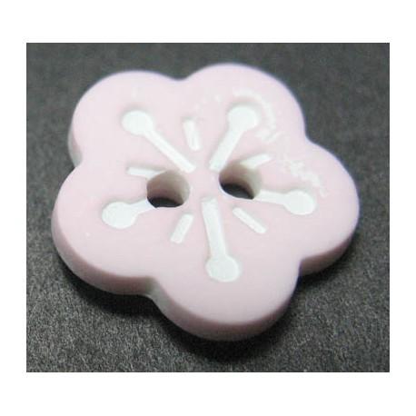 Bouton fleur rose clair 13 mm b38