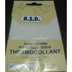 Thermocollant de réparation blanc