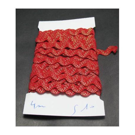 Croquet rouge incrustation lurex 10 mm
