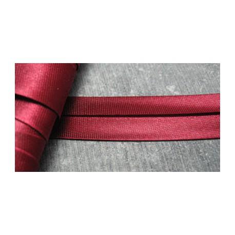 Biais satin preplié rubis 7 mm