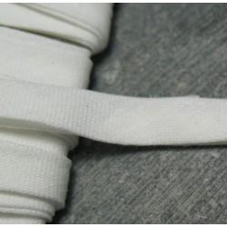 Biais plié blanc 7 mm