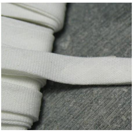 Biais plié blanc 6 mm