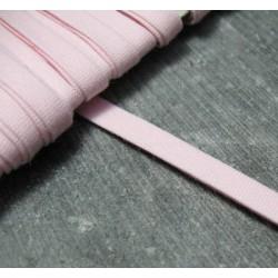 Biais plie coton rose 6 mm