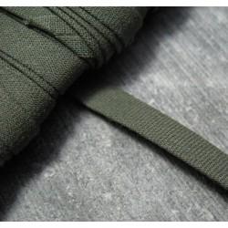 Biais plie coton kaki 6 mm