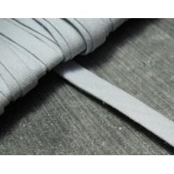 Biais plie coton gris 6 mm