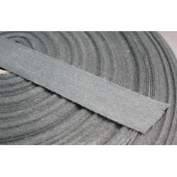 Ruban chevron noir 20 mm