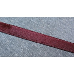 Ruban satin bordeaux 6 mm