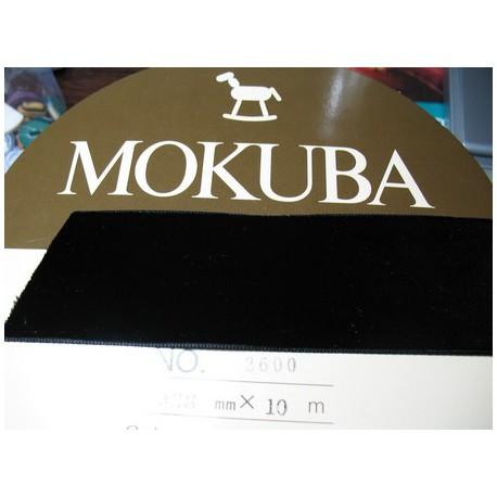 Velours Mokuba noir 38 mm
