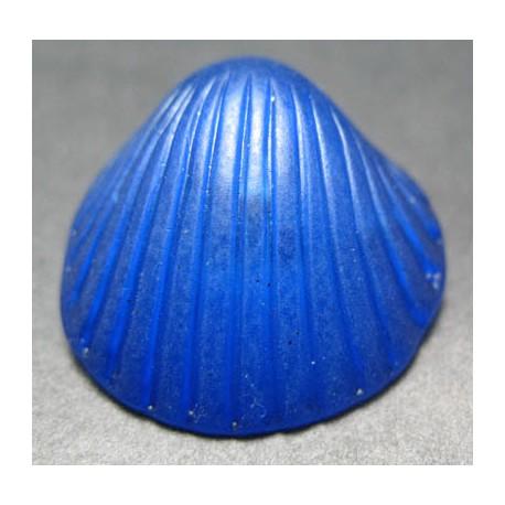 Bouton coquillage bleu  27 mm b25