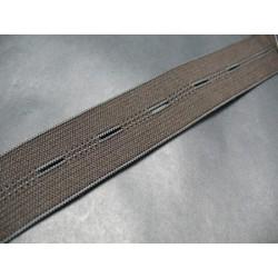 Elastique boutonnière marron 25 mm