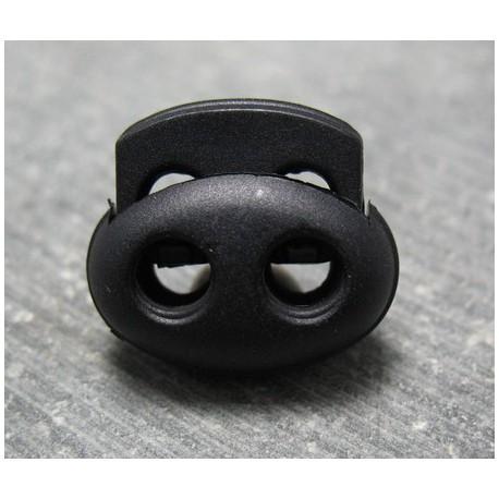 Bloqueur noir double 16 mm b66