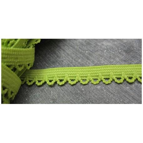Elastique fantaisie vert anis 10 mm