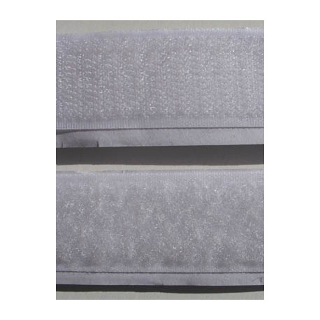 Velcro scratch autocollant blanc