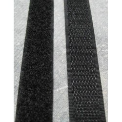 Velcro noir à coudre 16 mm