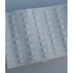 Ruflette blanche 75mm vendu par 6 m