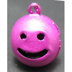 Grelot smile fuschia 15 mm