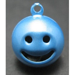 Grelot smile bleu 15 mm