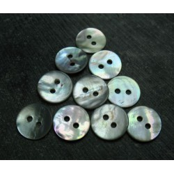 Lot 10 boutons nacre 12 mm