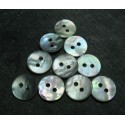 Lot 10 boutons nacre 12 mm