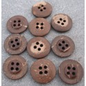 Lot 10 boutons coco 4T 18 mm