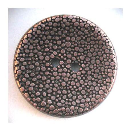 Bouton pixel vieux cuivre 25 mm b5