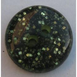 Bouton paillette vert 18 mm b5