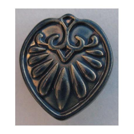Bouton fleur antique marine doré 20 mm b5