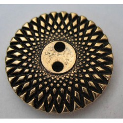 Bouton rayon doré 22 mm b7