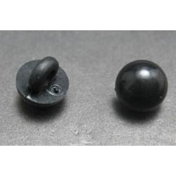 Bouton demi boule noir 9 mm b23