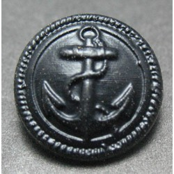 Bouton ancre noire 15 mm b41