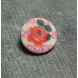 Bouton rose sublime 18 mm b14