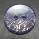 Bouton paillette  translucide violet 18mm