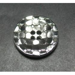 Bouton facette disco coloris argent 18mm
