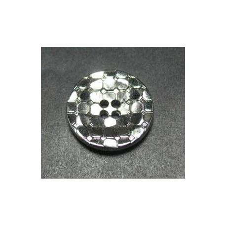 Bouton facette disco coloris argent 18 mm  b35