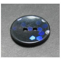 Bouton hologramme noir violet bleu 18 mm b54